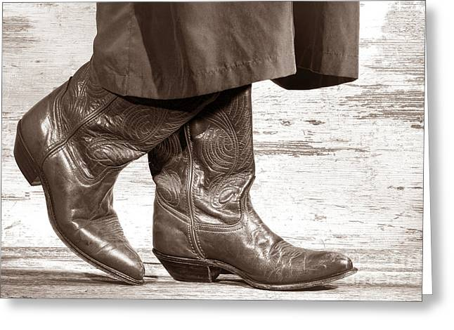 Cowgirl Boots Greeting Cards - Two Step Greeting Card by American West Legend By Olivier Le Queinec