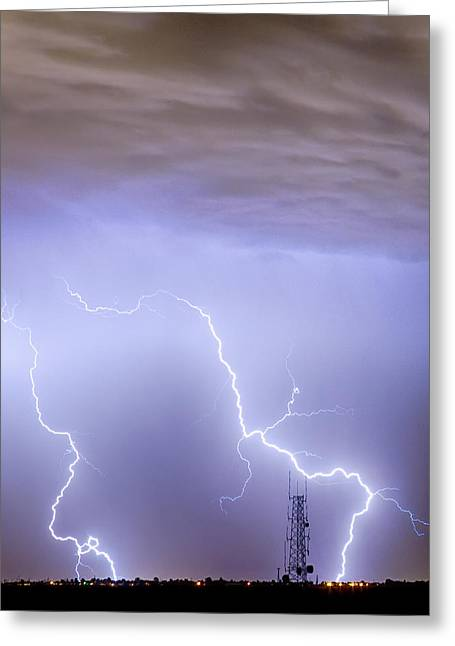 Lightning Gifts Greeting Cards - Two Strikes Greeting Card by James BO  Insogna