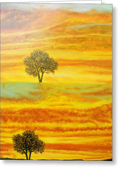 Limassol Greeting Cards - Two sunsets in Limassol Greeting Card by Augusta Stylianou