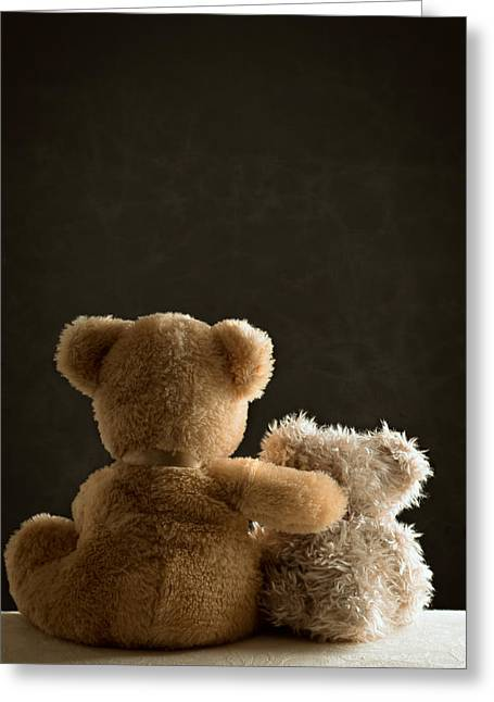 Settee Greeting Cards - Two Teddy Bears Greeting Card by Amanda And Christopher Elwell