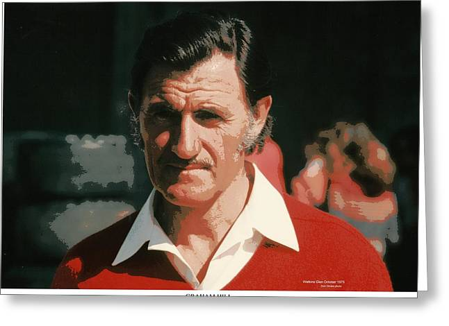 Indy Car Greeting Cards - Two-Time Formula One World Champion Graham Hill Greeting Card by Don Struke