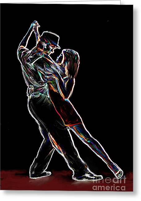 Abstract Movement Greeting Cards - Two To Tango Greeting Card by Sergio B