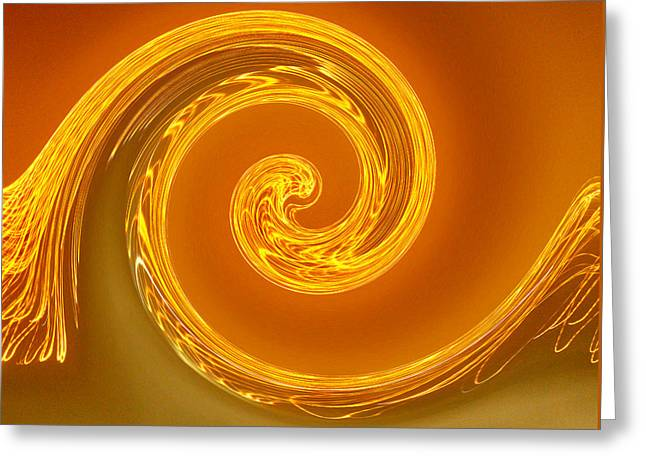 Two-toned Swirl Greeting Card by Art Block Collections