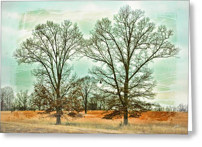 Paulette Wright Digital Art Greeting Cards - Two Trees Greeting Card by Paulette B Wright