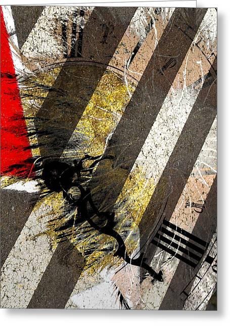 Yellow Line Greeting Cards - Two Twenty Three Greeting Card by Jerry Cordeiro