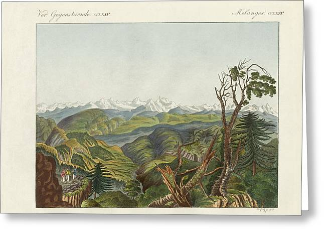 Asien Greeting Cards - Two views of the Himalayas Greeting Card by Splendid Art Prints