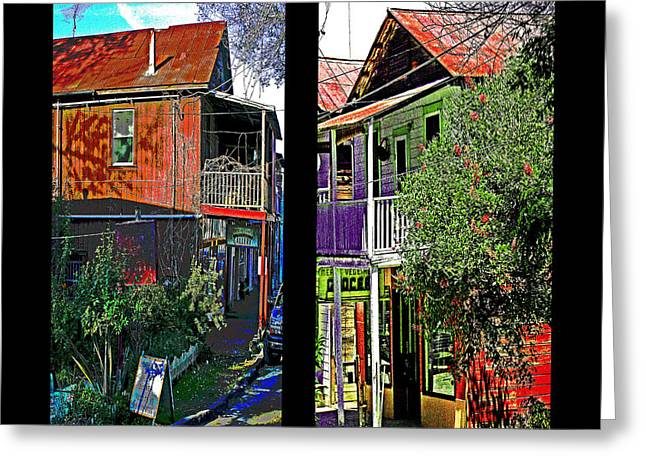 Main Street Greeting Cards - Two Views One Street Greeting Card by Joseph Coulombe
