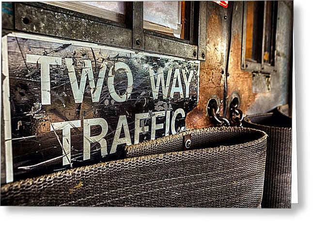 Two Way Traffic Greeting Card by Sennie Pierson