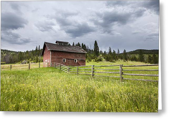 Daysray Photography Greeting Cards - Two Window Barn Greeting Card by Fran Riley
