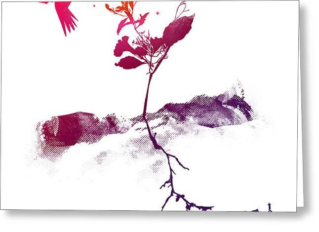 Two world Greeting Card by Budi Satria Kwan