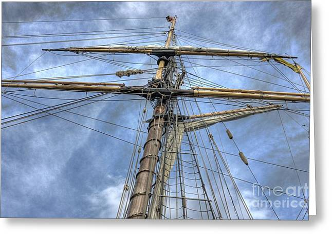 Tall Ships Greeting Cards - Two years before the Mast Greeting Card by David Bearden