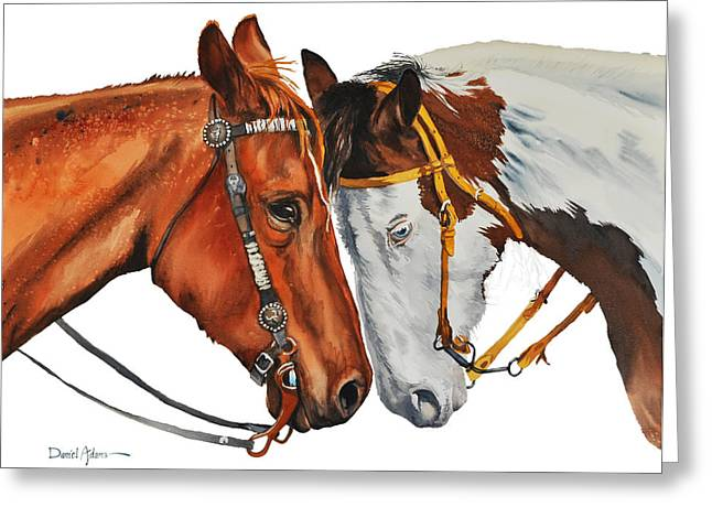 Texas Cowgirl Greeting Cards - Twogetherness Greeting Card by Daniel  Adams