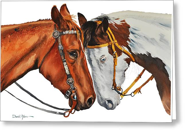 Texas Cowgirl Greeting Cards - Twogetherness DA160 Greeting Card by Daniel  Adams