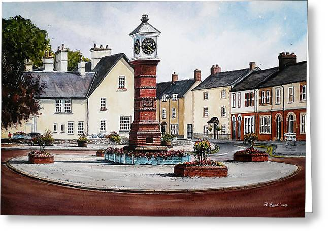 Twyn Square Usk Wales Greeting Card by Andrew Read