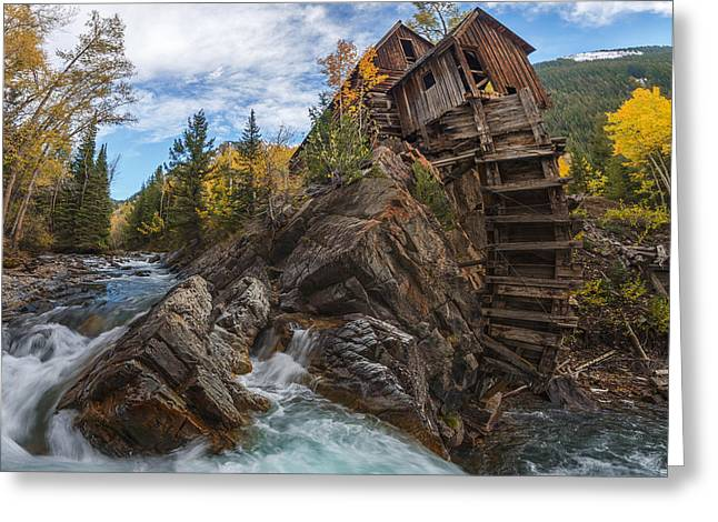 Crystal Mill Greeting Cards - Twystal Mill Greeting Card by Dustin  LeFevre
