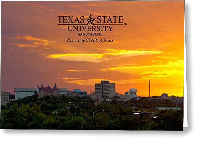 Bobcats Greeting Cards - TxST - The Rising Star of Texas Greeting Card by Randy Smith