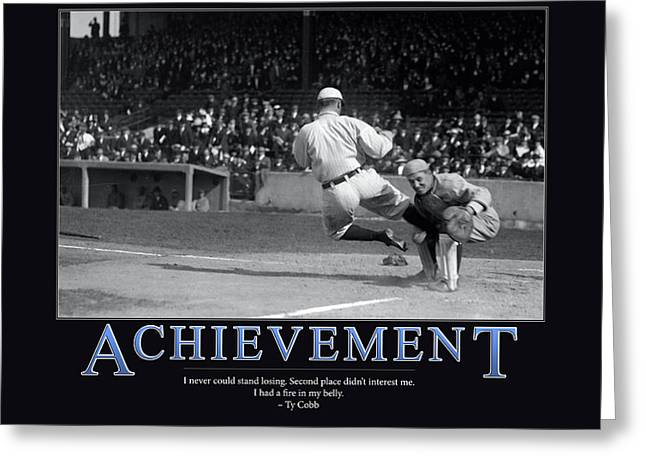 League Greeting Cards - Ty Cobb Achievement  Greeting Card by Retro Images Archive