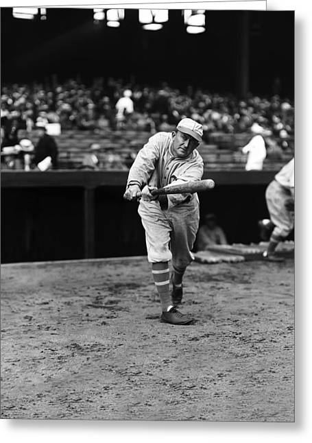 Cobb Greeting Cards - Ty Cobb Batting Greeting Card by Retro Images Archive