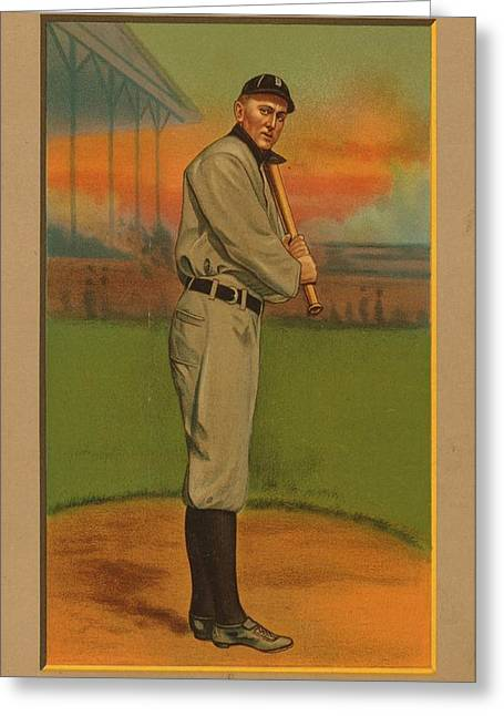 Detroit Tigers Digital Greeting Cards - Ty Cobb Circa 1911 Greeting Card by George Pedro
