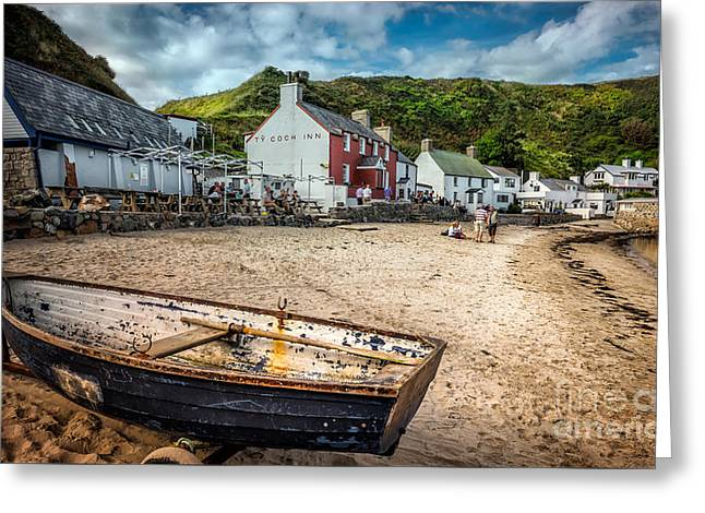 North Wales Digital Greeting Cards - Ty Coch Inn Greeting Card by Adrian Evans