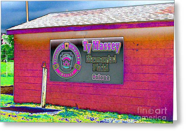 Ty Massey Memorial Colona IL Greeting Card by Margaret Newcomb