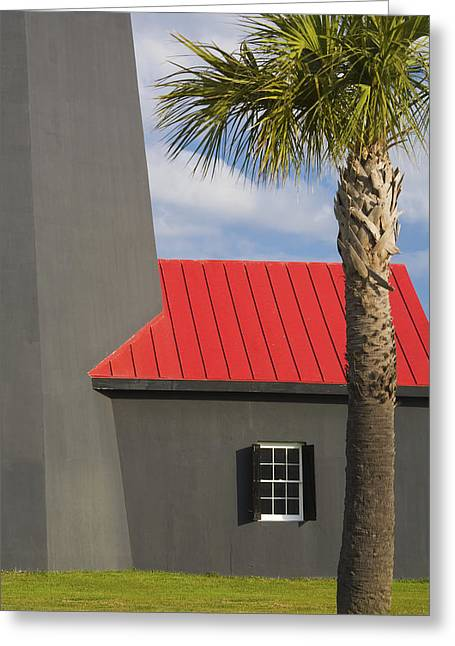 Chatham County Greeting Cards - Tybee Island Light Greeting Card by Eggers   Photography