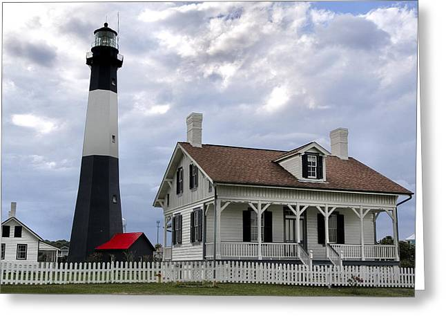 Chatham Greeting Cards - Tybee Island Lighthouse Greeting Card by Diana Powell