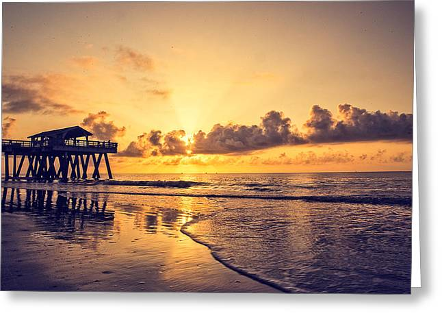 Tybee Island Pier Greeting Cards - Tybee Island Pier Greeting Card by A Different Brian Photography