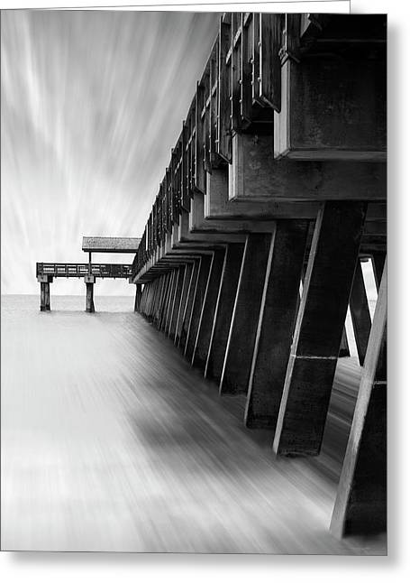 Pier Digital Greeting Cards - Tybee Island Pier Greeting Card by Mike McGlothlen