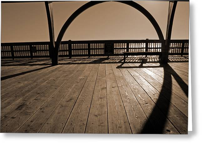 Purchase Greeting Cards - Tybee Island Pier Greeting Card by Steven  Michael