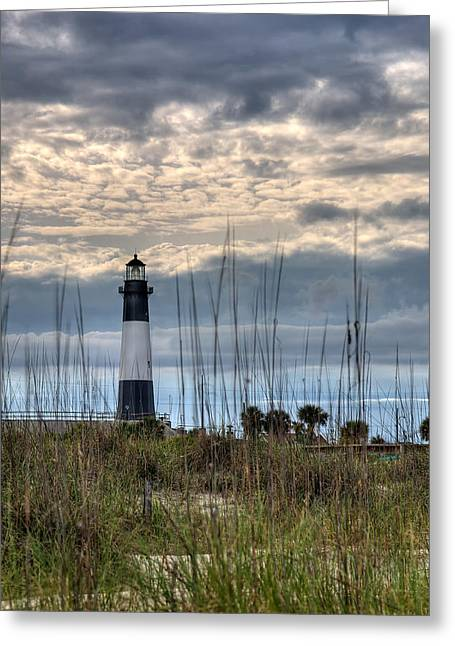 Hdr (high Dynamic Range) Greeting Cards - Tybee Light Greeting Card by Peter Tellone