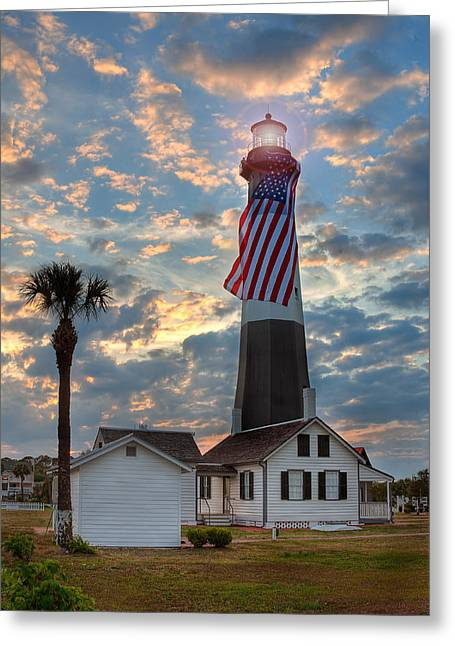 Tybee Lighthouse Greeting Card by Peter Tellone