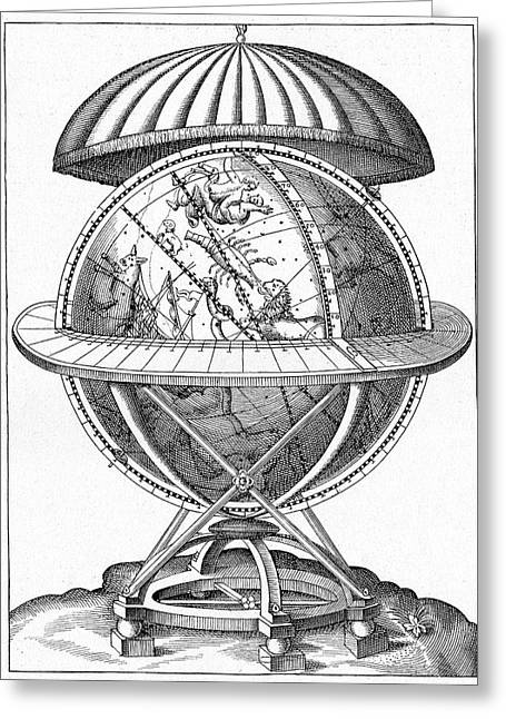 Tycho's Great Brass Globe Greeting Card by Cci Archives