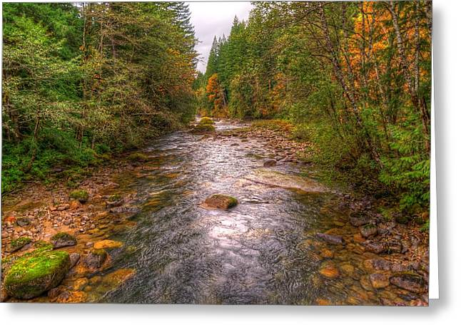 Tye Greeting Cards - Tye River Heaven Greeting Card by Spencer McDonald