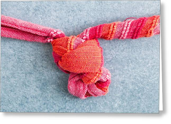 Slip Ins Greeting Cards - Tying a knot Greeting Card by Tom Gowanlock