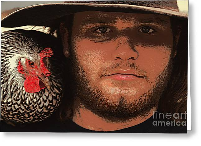 Barn Yard Greeting Cards - TYLOR AND LUCY  Innocence  with experience Greeting Card by Joe Jake Pratt