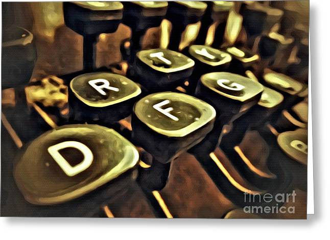Typewriter Greeting Cards - Type Greeting Card by AK Photography
