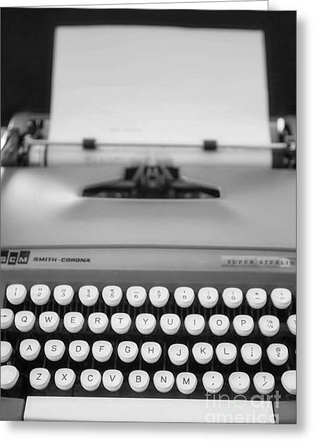 Typewriter Keys Photographs Greeting Cards - Type It Greeting Card by Rebecca Cozart