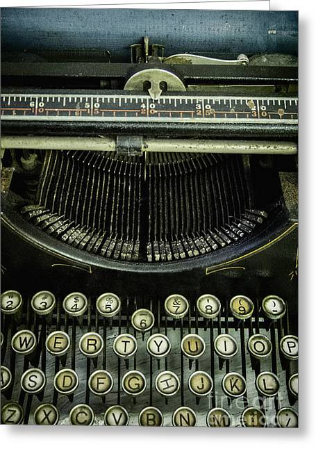 Typewriter Keys Greeting Cards - Type Greeting Card by Margie Hurwich