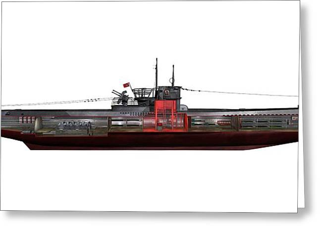 Type Viic42 U-boat, Artwork Greeting Card by Science Photo Library