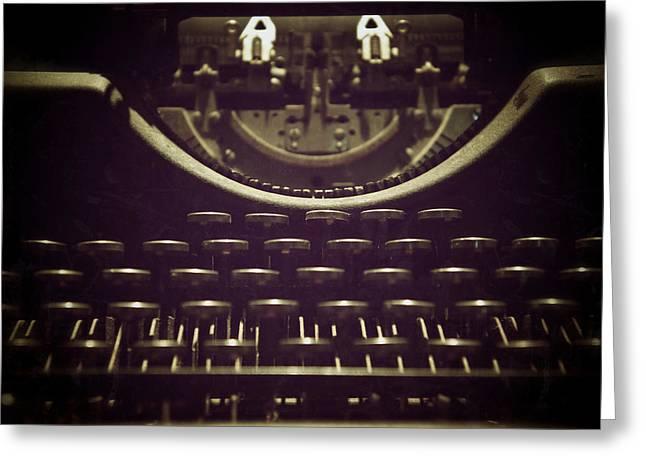 Typewriter Keys Greeting Cards - Typeset Greeting Card by Brandon Addis