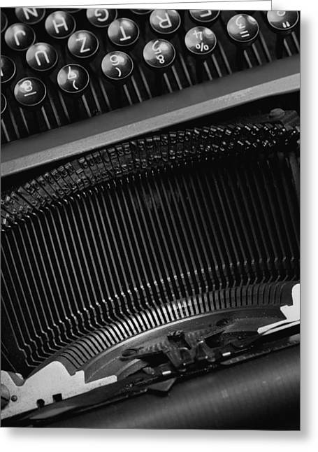 Schreibmaschine Greeting Cards - Typewriter  Greeting Card by Falko Follert