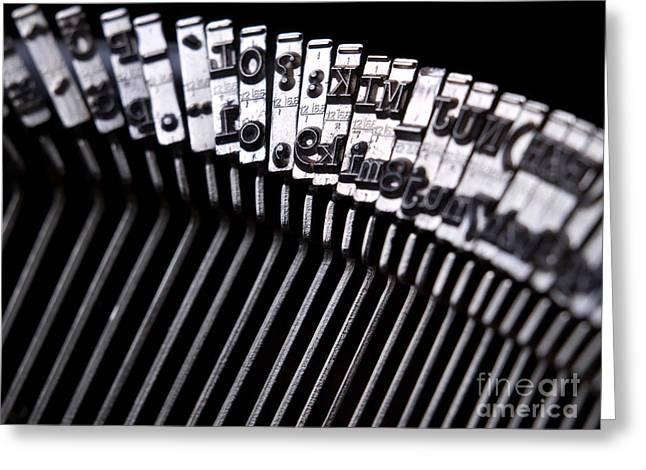 Technical Photographs Greeting Cards - Typewriter Greeting Card by Sinisa Botas