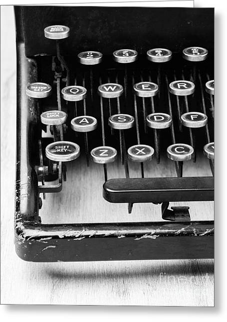 Author Greeting Cards - Typewriter Triptych Part 1 Greeting Card by Edward Fielding