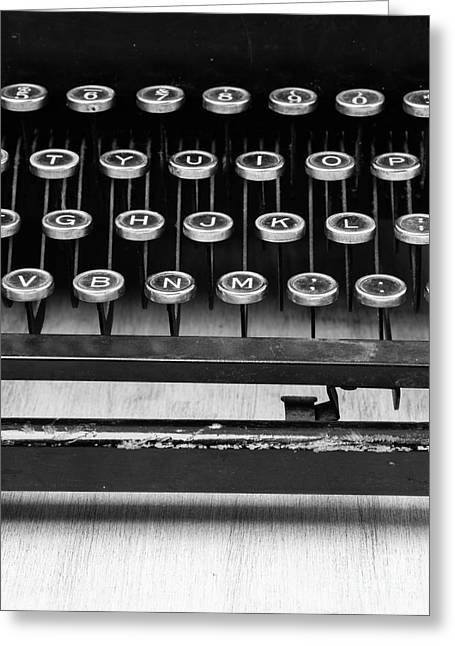 Author Greeting Cards - Typewriter Triptych Part 2 Greeting Card by Edward Fielding