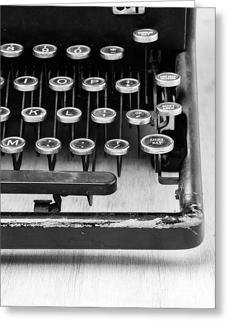 Typewriter Triptych Part 3 Greeting Card by Edward Fielding