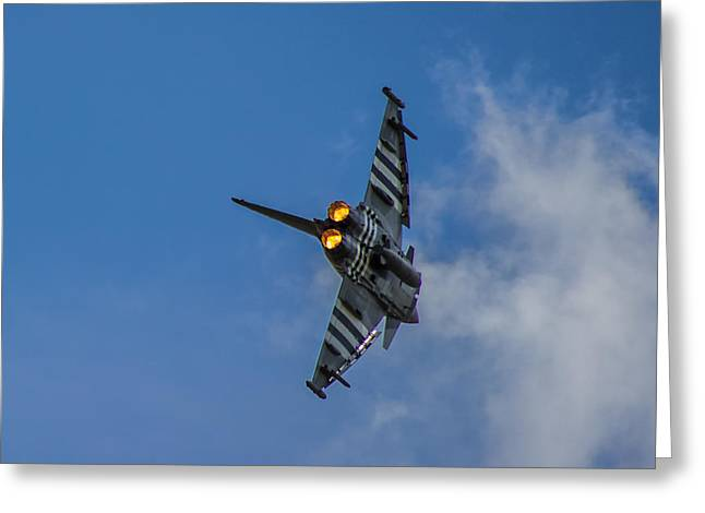 Fighter Jet Greeting Cards - Typhoon Jet Greeting Card by Martin Newman