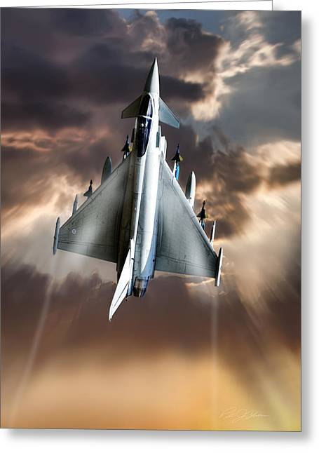 Interceptor Greeting Cards - Typhoon Rising Greeting Card by Peter Chilelli
