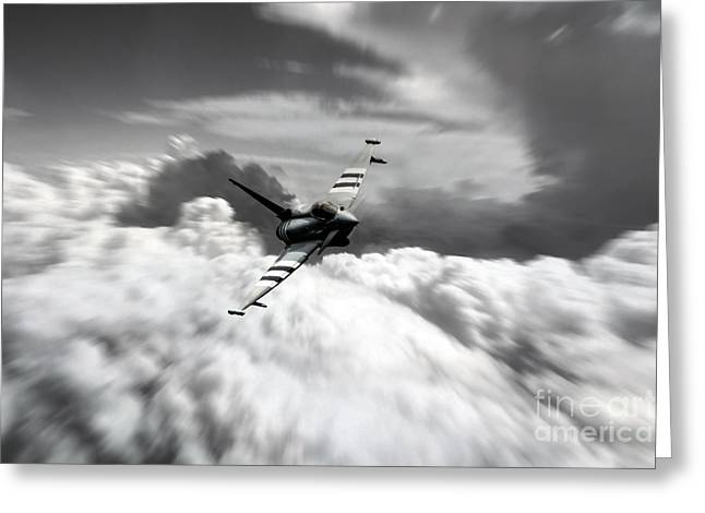 Triple Tail Greeting Cards - Typhoon Speed  Greeting Card by J Biggadike