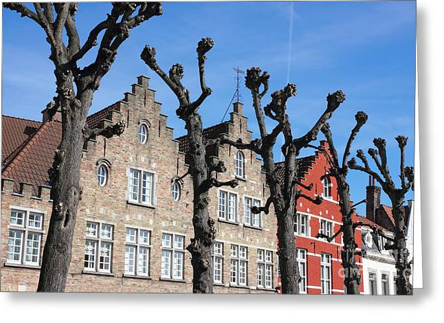 Simons Town Greeting Cards - Typical Bruges Facades Greeting Card by Kiril Stanchev